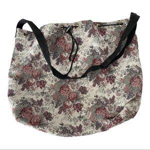 Grandma Print Tapestry Satchel Bag